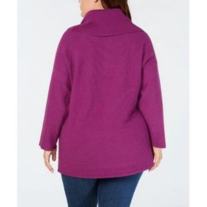 Style & Co Sweaters - Style & Co Women's Plus Ribbed Long Sleeve Sweater